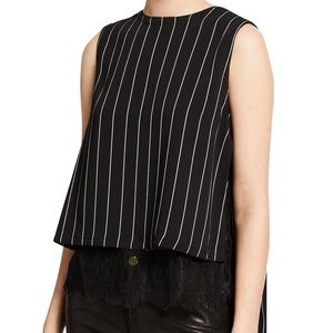 Yigal Azrouel crew neck sleeveless pleat back top